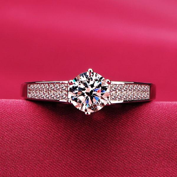 0.8 Carat Six Claw ESCVD Diamonds Lovers Ring Wedding Ring Women Ring