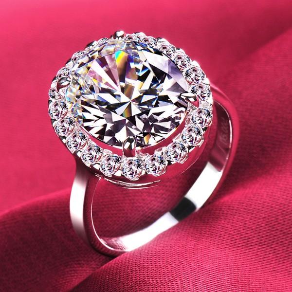 5.0 Carat Luxuriant ESCVD Diamonds Lovers Ring Wedding Ring Women Ring