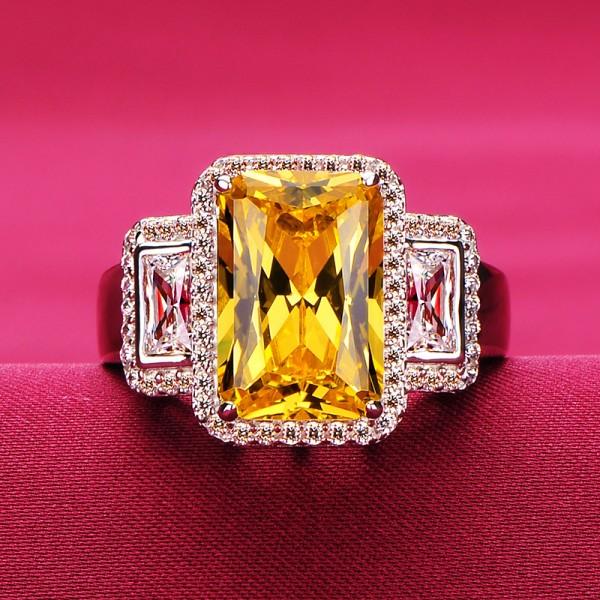 3.0 Carat Cross ESCVD Diamonds Lovers Ring Wedding Ring Women Ring