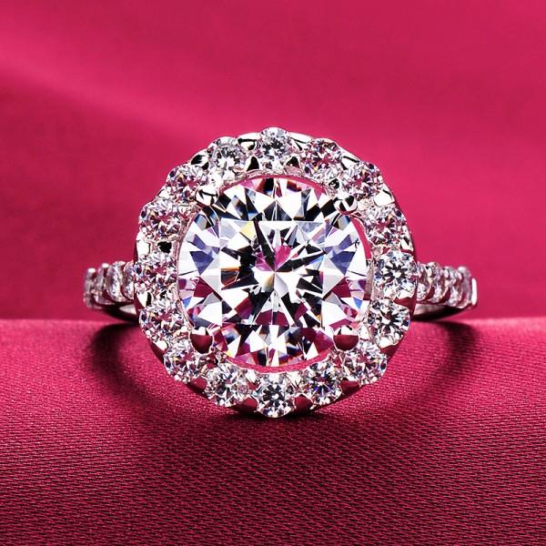3.0 Carat Shinning ESCVD Diamonds Lovers Ring Wedding Ring Women Ring