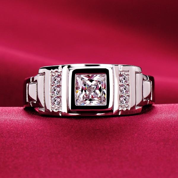 1.0 Carat Honorable ESCVD Diamonds Lovers Ring Wedding Ring Men Ring