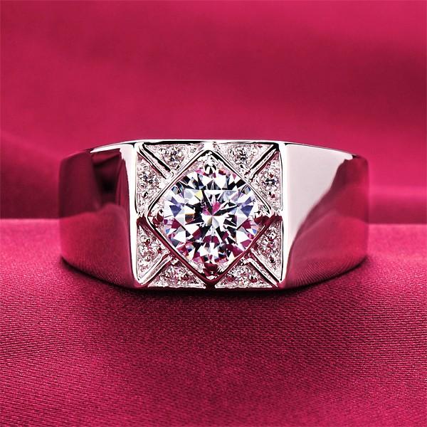 0.8 Carat Fashionable ESCVD Diamonds Lovers Ring Wedding Ring Men Ring