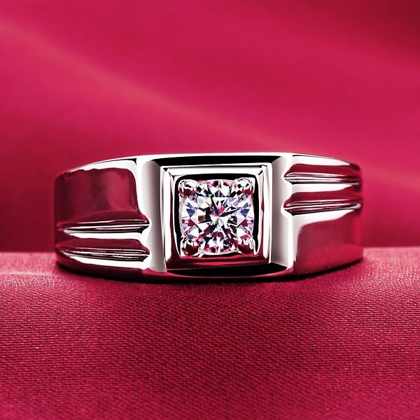 0.5 Carat Square ESCVD Diamonds Lovers Ring Wedding Ring Men Ring