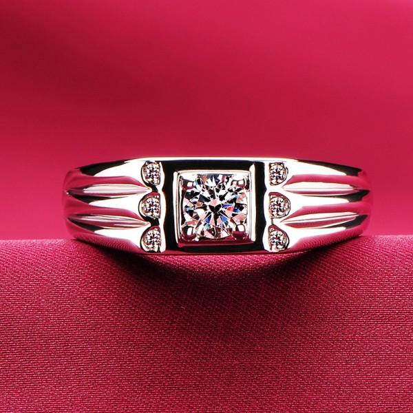 0.3 Carat Angular Noble ESCVD Diamonds Lovers Ring Wedding Ring Men Ring