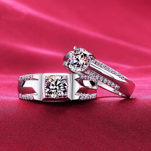 Regretless Love Top Level ESCVD Diamonds Lovers Rings Wedding Rings Couple Rings