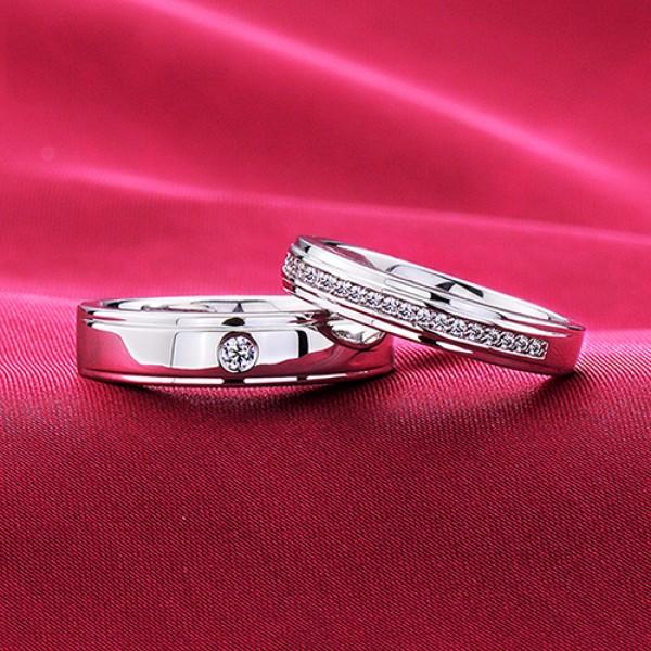 Forever Company ESCVD Diamonds Lovers Rings Wedding Rings Couple Rings