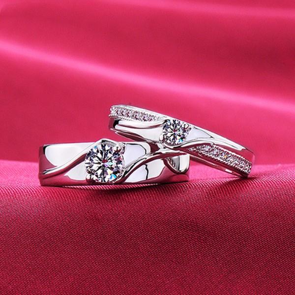 Hand In Hand ESCVD Diamonds Lovers Rings Wedding Rings Couple Rings