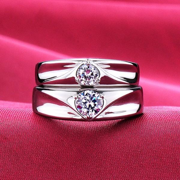 Heart Loving you ESCVD Diamonds Lovers Rings Wedding Rings Couple Rings