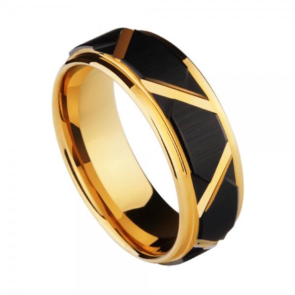 Galaxy Force Fashion Style Dull Polish Craft Men's Tungsten Ring