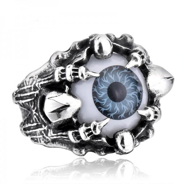 Evil Eyes Skull Ring