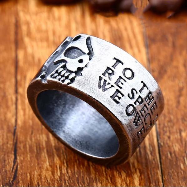 Vintage Titanium Steel Men's Skull Ring