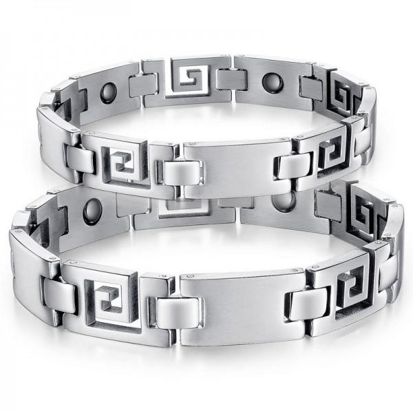 New Style Titanium Steel Bracelet with Energy Magnetic Stone Lovers Bracelets