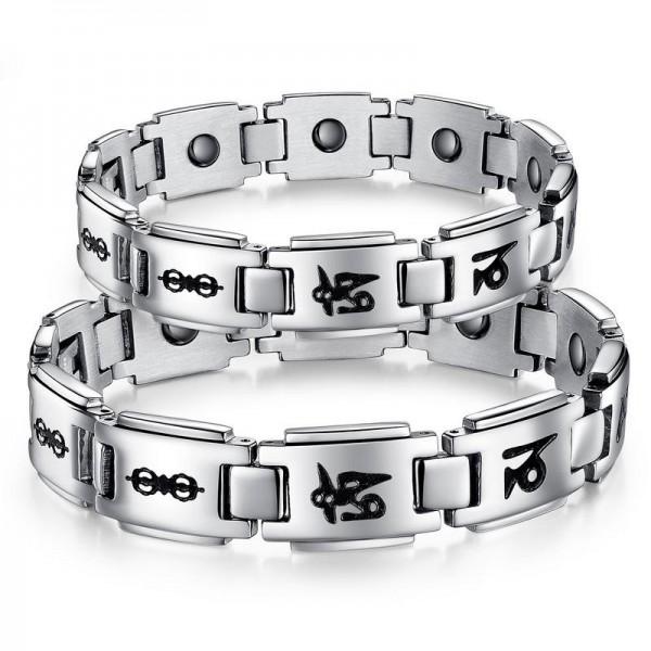 Classic Style Titanium Steel Lovers Bracelets
