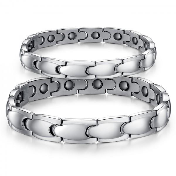 Korean Fashion Valentine's Day Gift Titanium Bracelet with Import Brazilian Hematite Lovers Bracelets