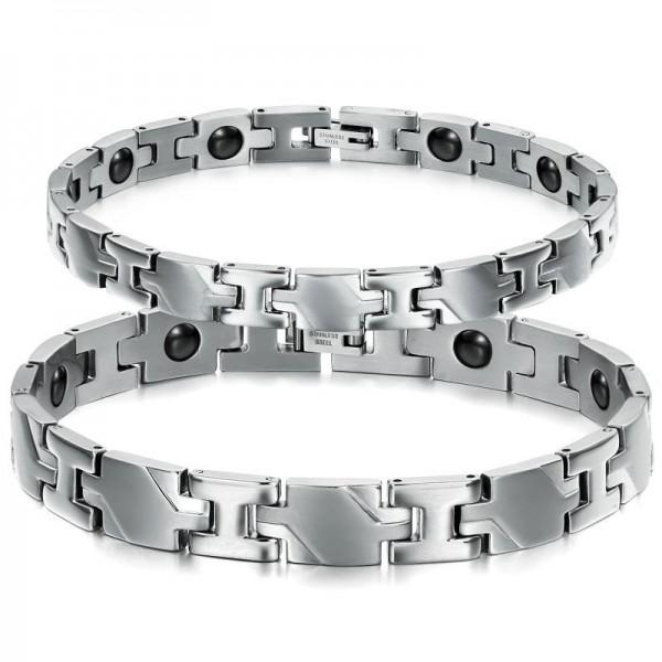 Titanium Steel Bracelets with Energy Magnetic Stone Popular Lovers Bracelets