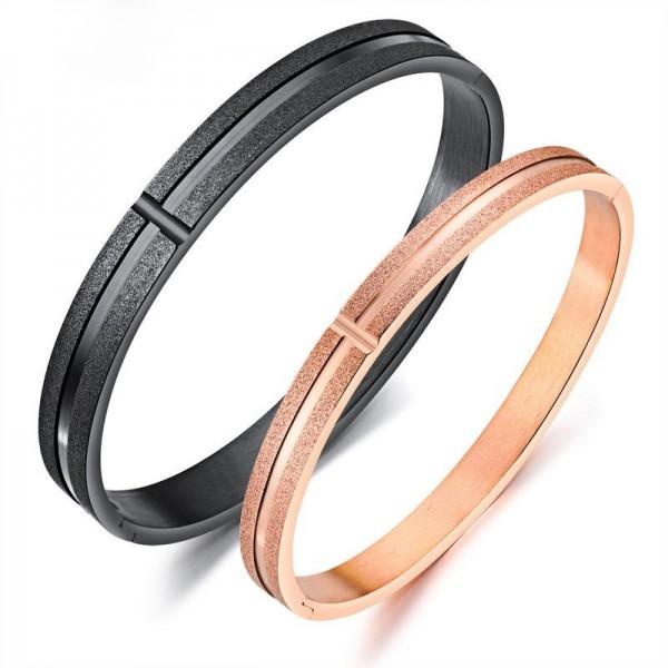 2018 New Fashion Oval Bracelet Titanium Steel Lovers Bracelets Valentine's Day Accessories