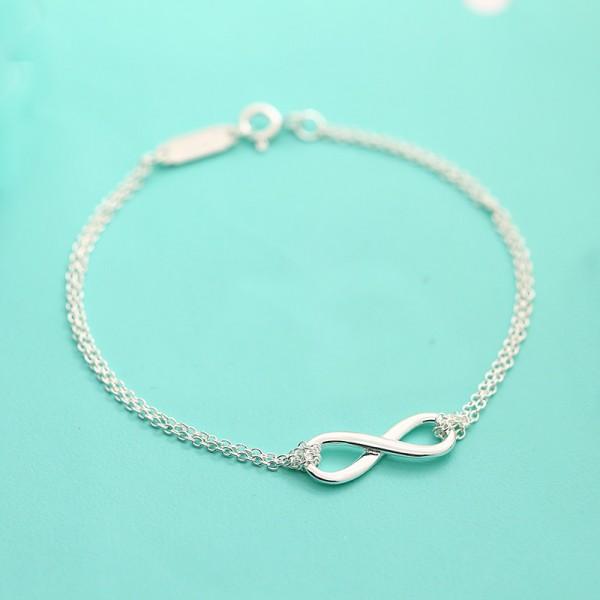"""Elegant Symbol """"Infinite"""" S925 Sterling Silver Women Bracelet"""