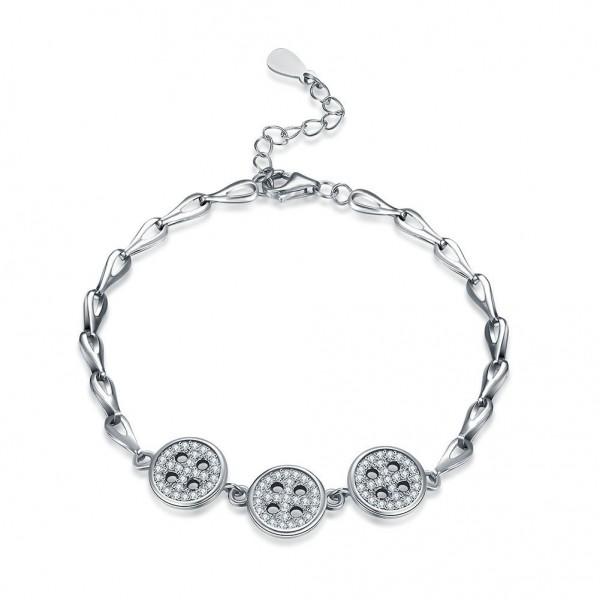 Original Design S925 Sterling Silver Inlaid Cubic Zirconia Bracelet