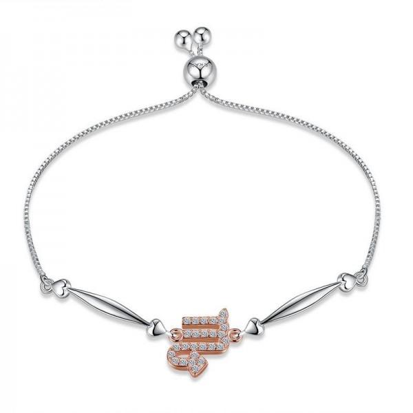 Hot Selling Twelve Constellation Scorpio Style S925 Sterling Silver Inlaid Cubic Zirconia Bracelet