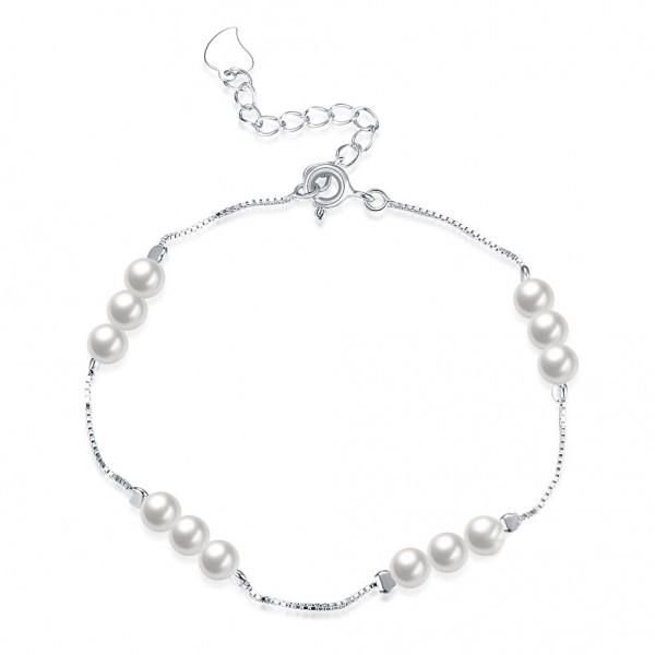 Hot Selling S925 Sterling Silver Pearl Bracelet