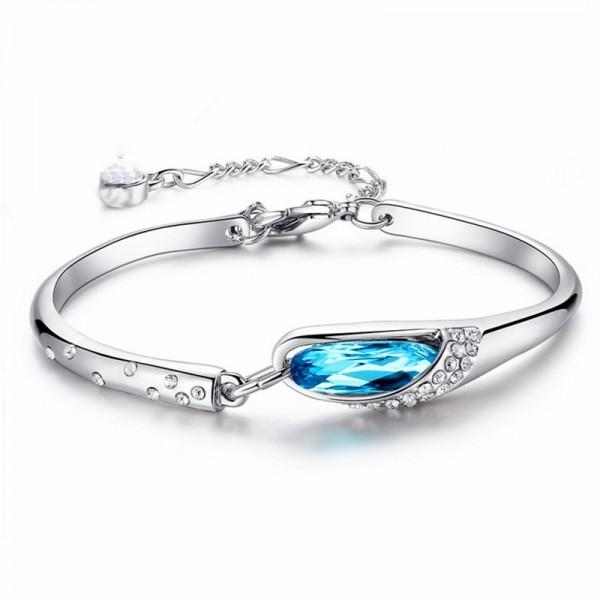 Infinite Love S925 Sterling Silver Inlaid Cubic Zirconia Bracelet