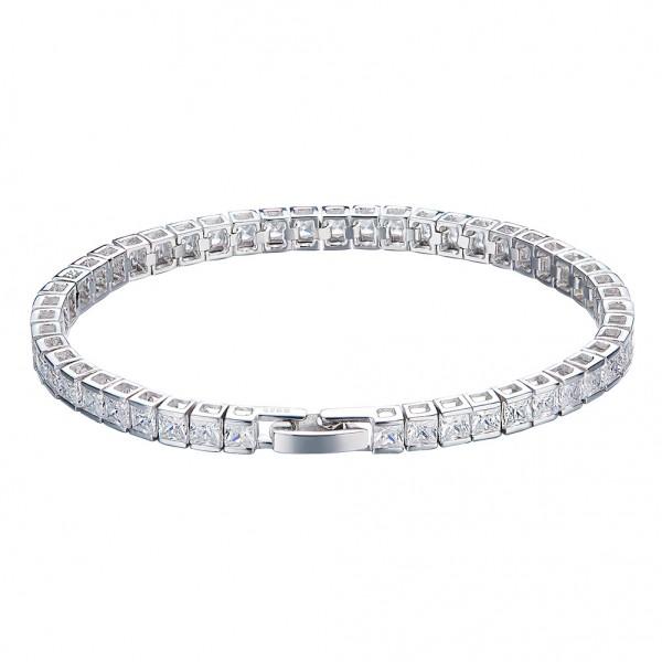 Romantic S925 Sterling Silver Inlaid Cubic Zirconia Bracelet