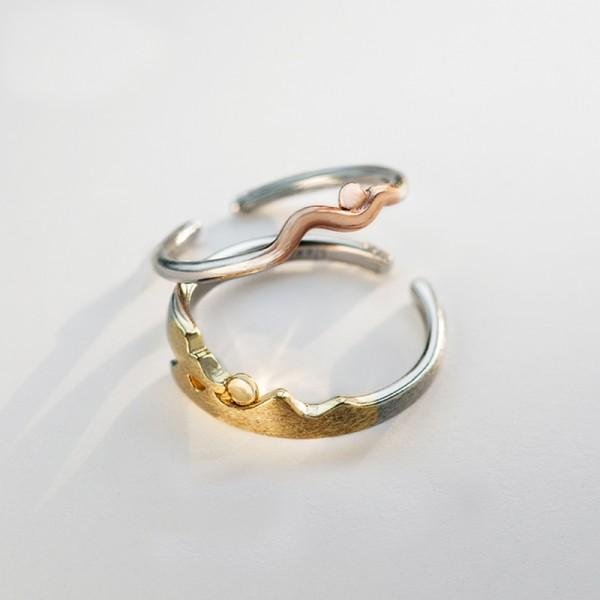 Original Design Always Together Simple Lovers Ring