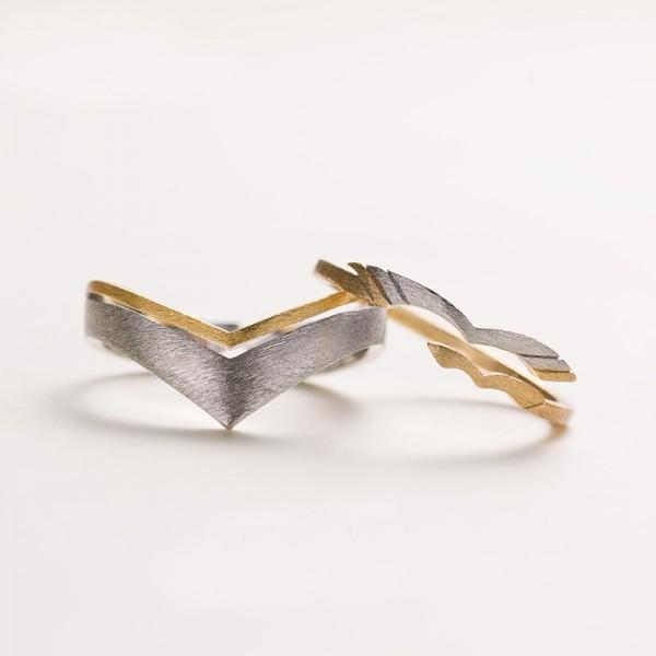 Original Design Wing Heart Simple Lovers Ring