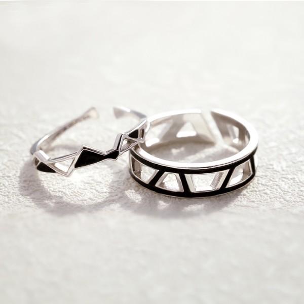 Original Design Edges and Corners Lovers Ring
