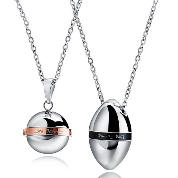 Exquisite Titanium steel Couples Necklace Valentine'S Day Gift