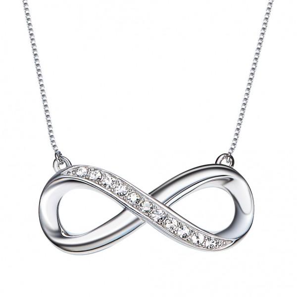 925 Silver Valentine'S Day Present Rhinestone Ladies' Necklace With Chain