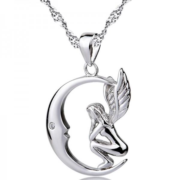 Trendy Silver 3A Zircon Ladies Necklace Pendant