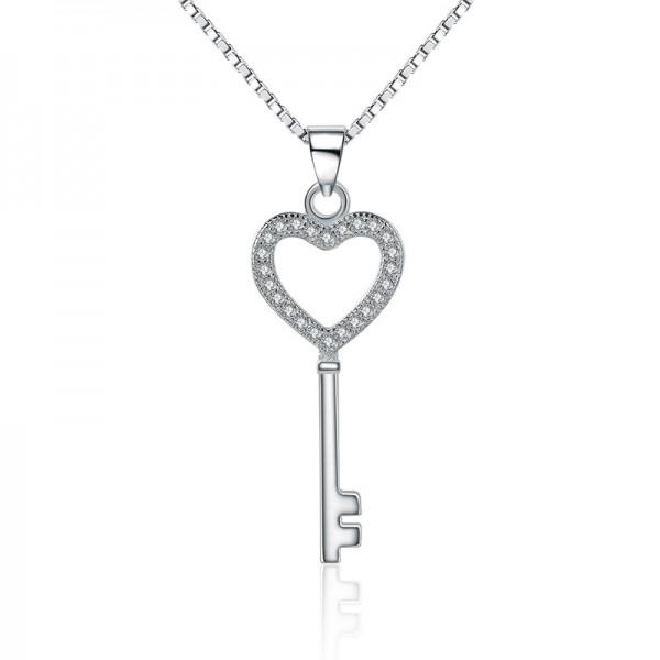 Designal 925 Silver 3A Zircon Ladies Necklace Pendant