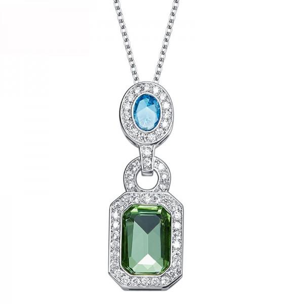 Ladies Necklace Crystal Cz Pendant