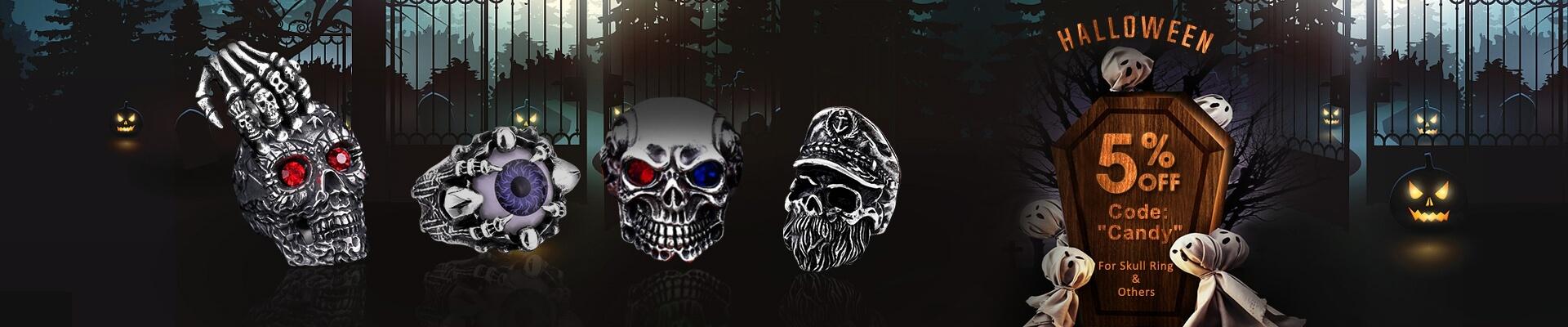 Urcoco Halloween Rings